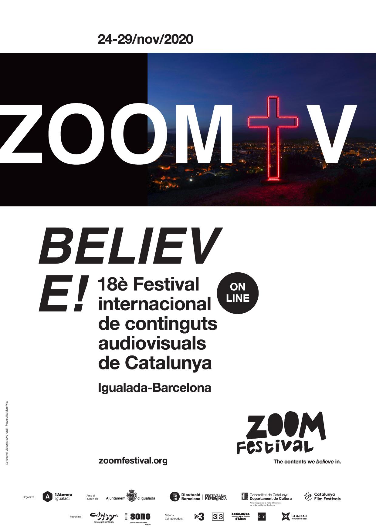 """""""Believe"""": El Zoom Festival Invita A Creer En Los Contenidos En La Imagen Gráfica De La 18º Edición"""